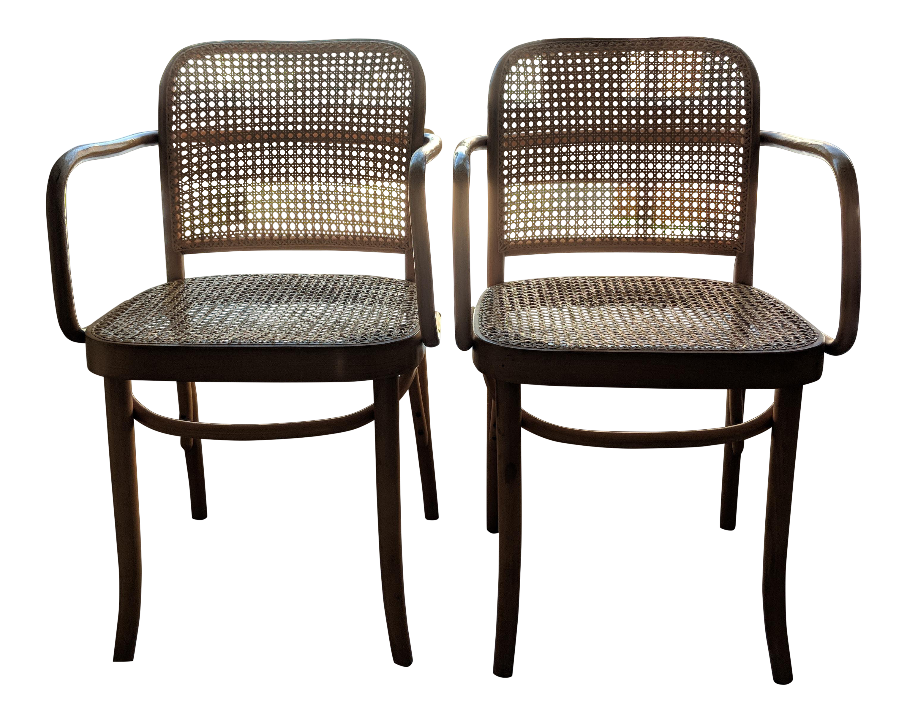 Set Of Mid Century Modern Josef Hoffmann Prague Chairs