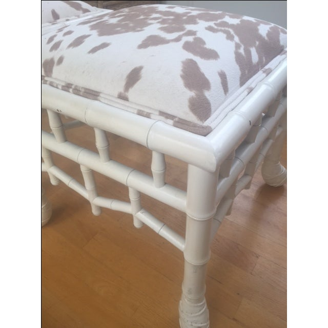Chinoiserie Chic Hollywood Regency Stools - Pair - Image 7 of 11