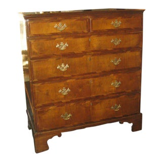 19th C. Fruitwood Five Drawer Chest For Sale