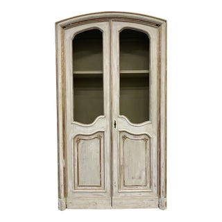 Tuscan Italian Two Door Carved Bibliotheque Bookcase - 19th C For Sale