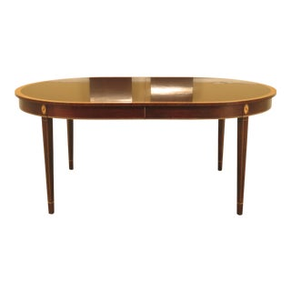 Stickley Inlaid Mahogany Federal Dining Room Table