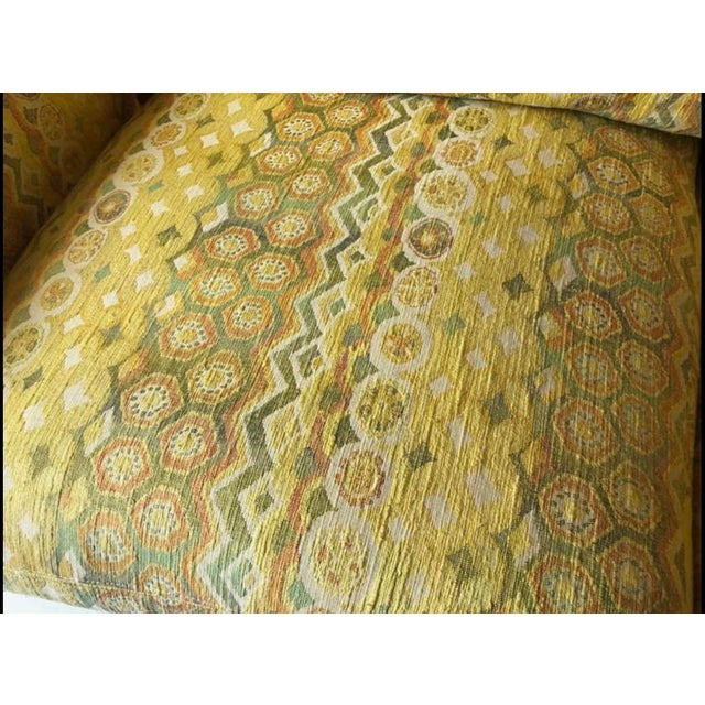 Mid 20th Century Milo Baughman for Thayer Coggin Woven Jacquard Sofa For Sale - Image 5 of 8