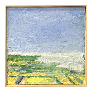 """Just Around Here"" Contemporary Plein Air Seascape Acrylic Painting, Framed For Sale"