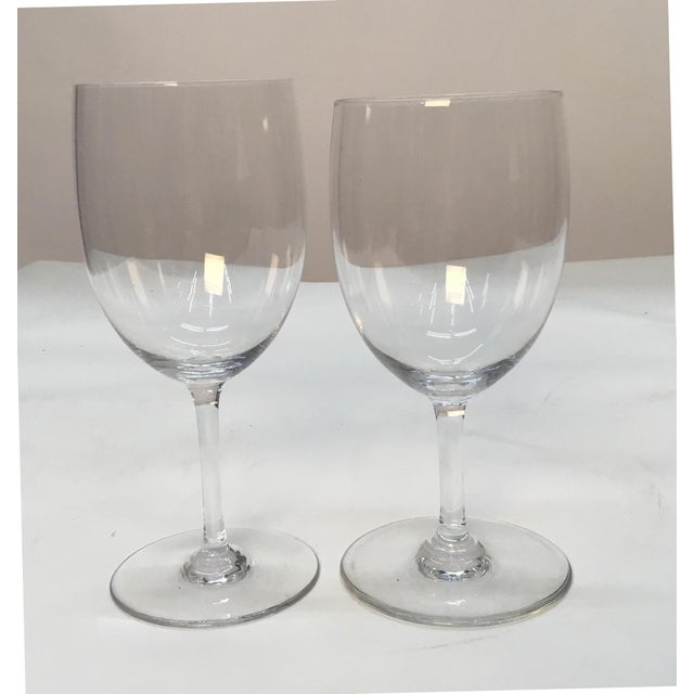 Glass Baccarat France Crystal Wine Glasses - a Pair For Sale - Image 7 of 7