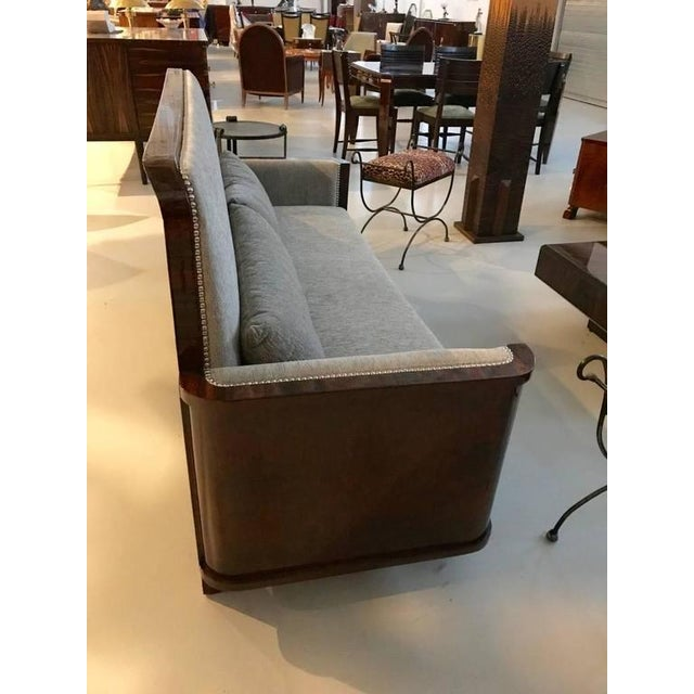 Circa 1930 French Art Deco Macassar Sofa For Sale - Image 9 of 10