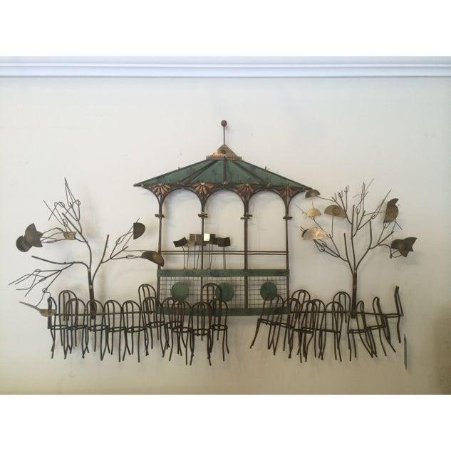C Jeré Signed Gazebo Café Scene Hanging Sculpture - Image 3 of 9