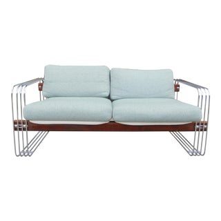 Heinz Meier for Landes Chrome & Wood Loveseat