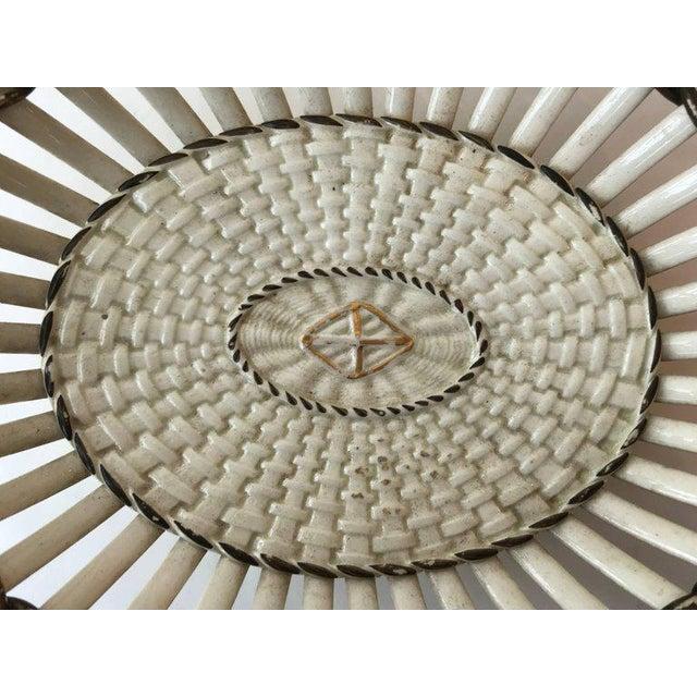Wedgwood 19th Century Wedgewood Creamware Basket/Bowl For Sale - Image 4 of 8