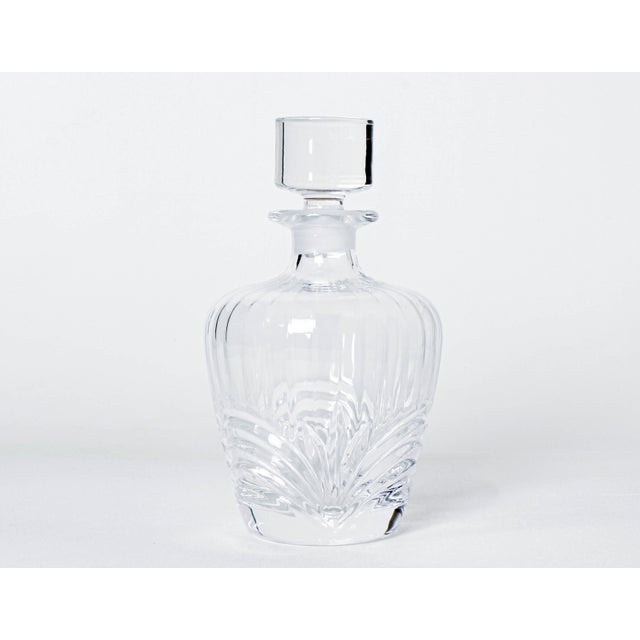 """Vintage hand cut Chrystal glass decanter Dimensions; 4.5""""Width x 4.5""""Depth x 12""""Height Minor wear, vintage condition If..."""