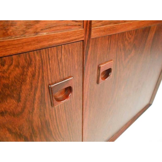 Rosewood Danish Modern Rosewood Cabinets - a Pair For Sale - Image 7 of 10