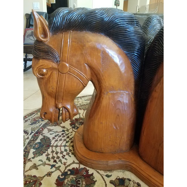 Hand Carved Horse Head Coffee Table For Sale - Image 4 of 13