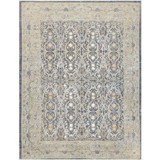 "Mansour Rare Silk & Wool European Design Rug - 8'4"" x 10'4"" For Sale"