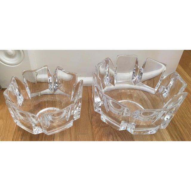 "Orrefors ""Corona"" Crystal Bowls - A Pair - Image 2 of 10"