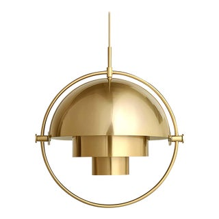 Louis Weisdorf 'Multi-Lite' Pendant Lamp in Brass For Sale