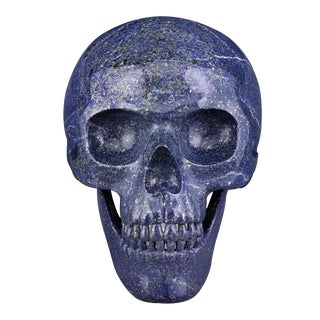 Lapis Lazuli Skull by Andreas von Zadora-Gerlof For Sale