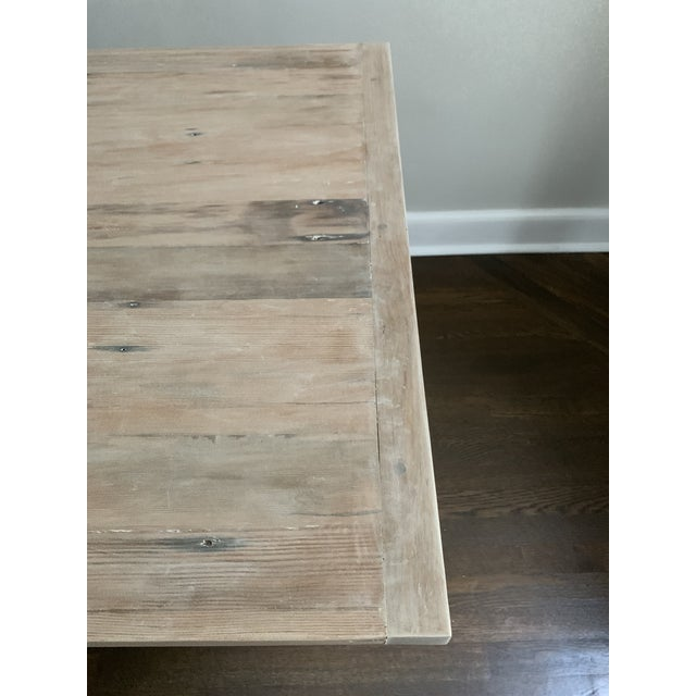European Style Modern Farmhouse Reclaimed Wood Dining Table or XL Desk For Sale - Image 10 of 12