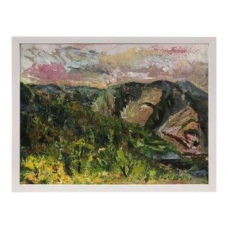 White Framed Vintage Fauvist Landscape Painting