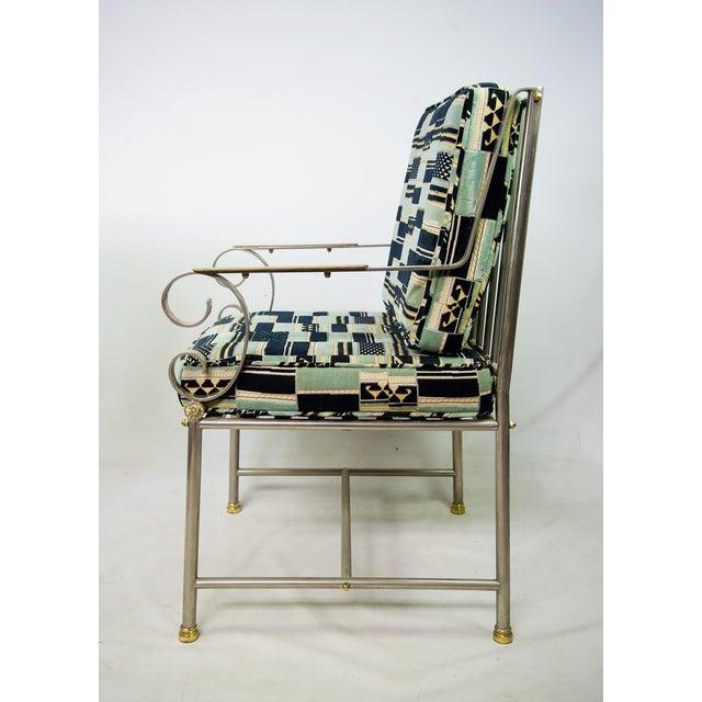 Maison Jansen Mid-Century Chrome Armchair For Sale - Image 5 of 9