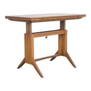 Wilhelm Renz Folding Adjustable Teak Coffee Table For Sale