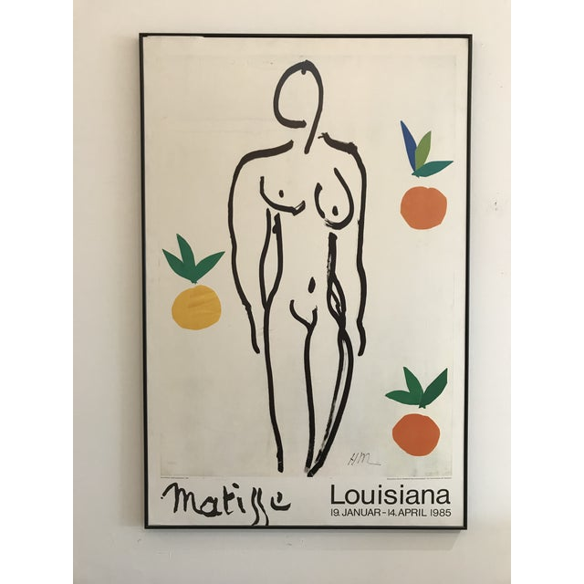 1985 Framed Matisse Louisiana Exhibition Poster For Sale - Image 10 of 10