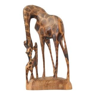 African Giraffe Carving