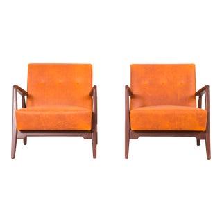 Set of Jens Risom Lounge Chairs