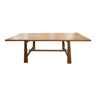 Organic Modern Oak Dining Table For Sale