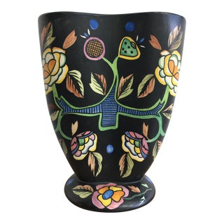 Lenci of Turino, Italy Ceramic Vase, 1930s For Sale
