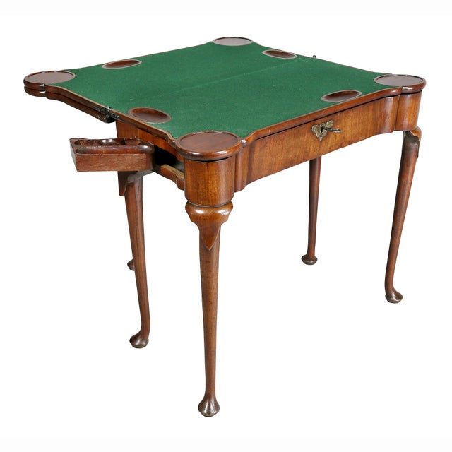 George II Mahogany Triple Top Games Table For Sale In Boston - Image 6 of 12