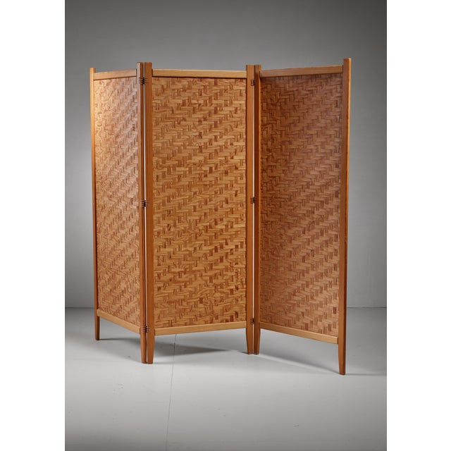1950s Pine folding screen, Sweden For Sale - Image 5 of 5