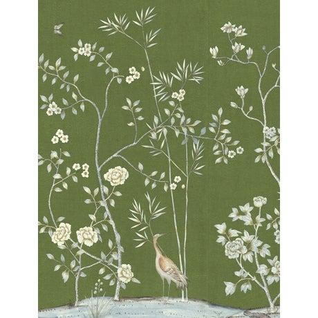 Chinoiserie Casa Cosima Moss Brighton Wallpaper Mural - Sample For Sale - Image 3 of 3