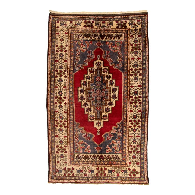 Vintage Turkish Red Rug For Sale