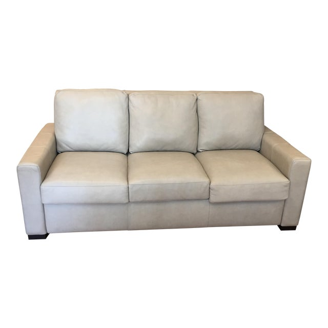 American Leather for Room & Board Convertible Sofa - Image 1 of 10