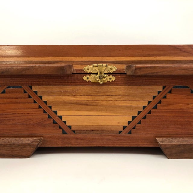 Mid-Century Tramp Art Jewelry Box For Sale In Boston - Image 6 of 13