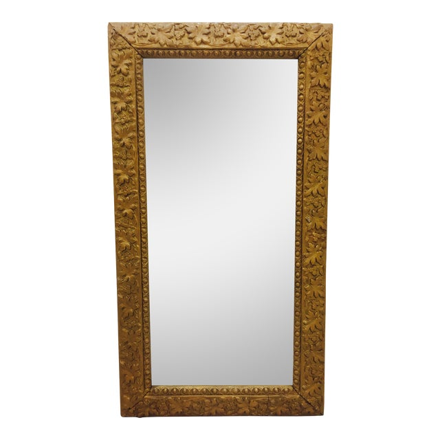 Antique Gold Giltwood & Gesso Mirror For Sale
