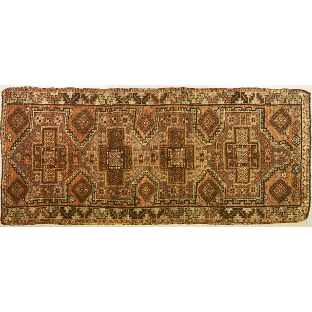 Textile 1930s Traditional Turkish Red Wool Oushak Rug - 4'10''x10'4'' For Sale - Image 7 of 7