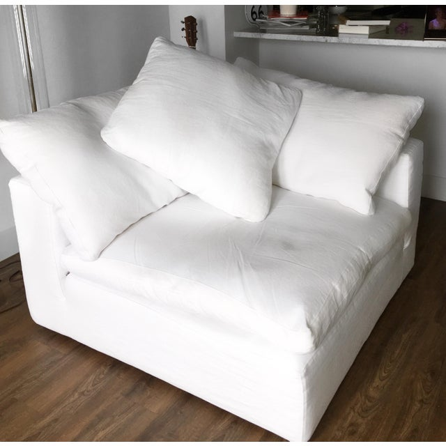 Contemporary Restoration Hardware Modular Cloud Collection Corner Chair For Sale - Image 3 of 6