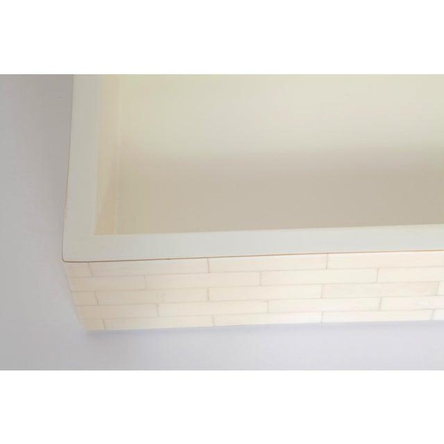 White Large Tessellated Bone Box, Circa 1980 For Sale - Image 8 of 13