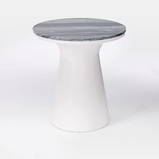 West Elm Marble Topped Pedestal Side Table Chairish - West elm pedestal side table