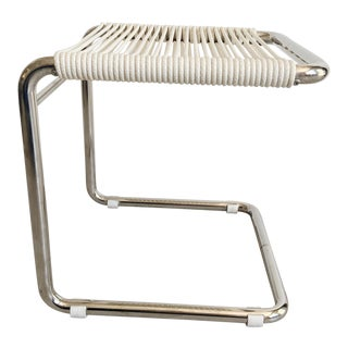 Tubular Chrome Stool by Andre Dupre for Knoll For Sale