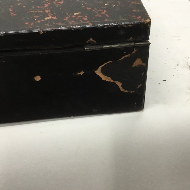 19th Century Antique Japanese Lacquer Box / Lap Desk For Sale - Image 11 of 13
