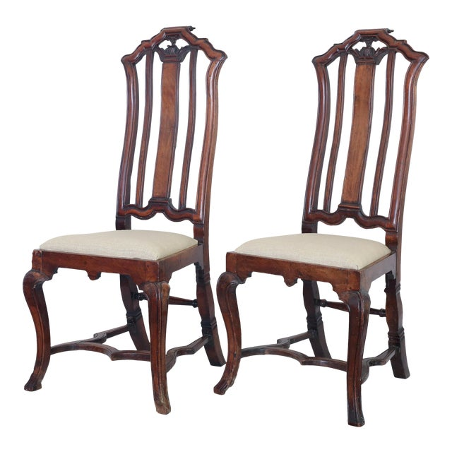 Anglo Dutch Walnut Chairs - A Pair For Sale