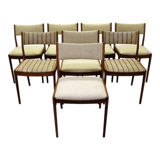 Johannes Andersen Uldum Danish Modern Teak Dining Chairs - Set of 8
