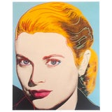 """Image of Andy Warhol Estate Rare Vintage 1989 Collector's Pop Art Lithograph Print """" Grace Kelly """" 1984 For Sale"""
