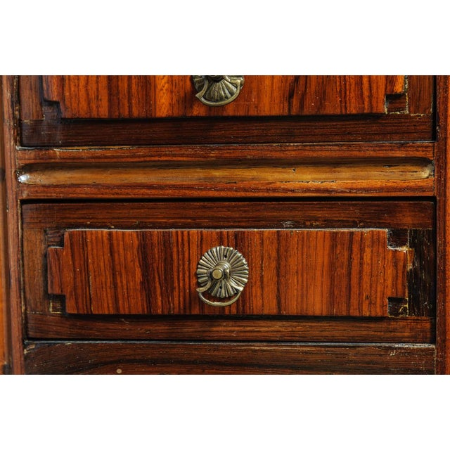 An unusual, period Louis XVI, walnut valuables cabinet with locking drawers and compartments. Used prior to established...