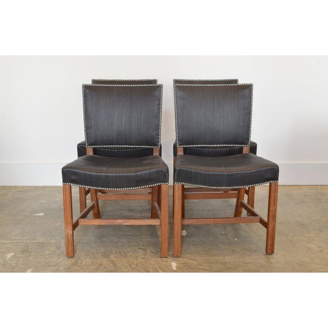 1950s Set of Four Kaare Klint Red Chairs, 1954 For Sale - Image 5 of 5