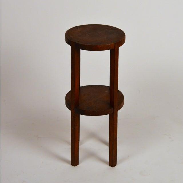 Slender American Arts & Crafts Oak Sellette Side Table For Sale - Image 4 of 7
