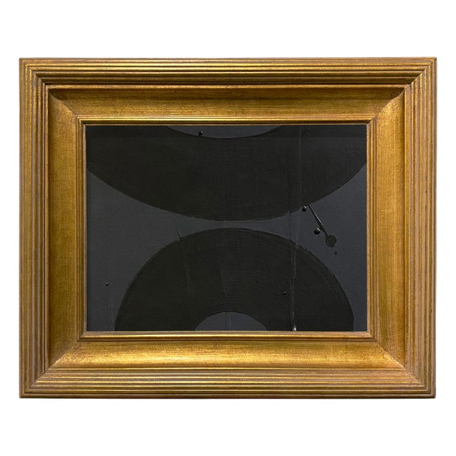 Ron Giusti Mini Wagasa Charcoal and Black Acrylic Painting, Framed For Sale - Image 4 of 4
