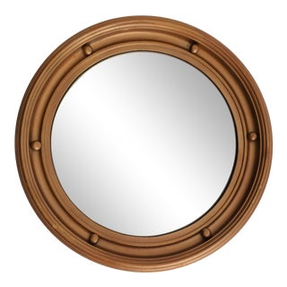 English Round Convex Bullseye Mirror For Sale