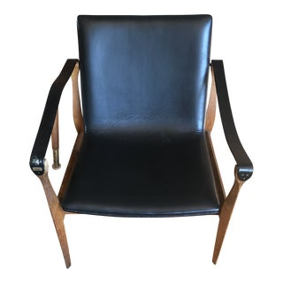 Mid-Century Modern Ebbe & Karen Clemmensen Safari Chair For Sale